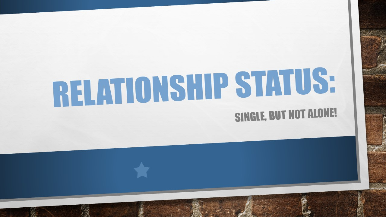 Relationship Status Single But Not Alone Cbc Yorkshire