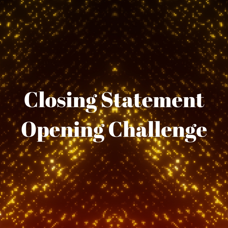 Closing Statement/Opening Challenge - Central Baptist Church